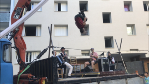Acrobatie-Fil de fer